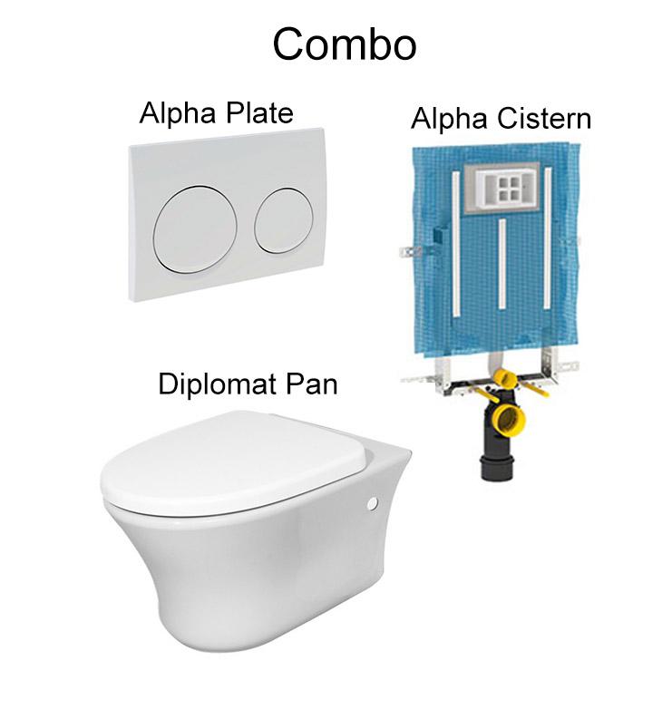 Awe Inspiring Geberit Alpha And Diplomat Combo Dailytribune Chair Design For Home Dailytribuneorg