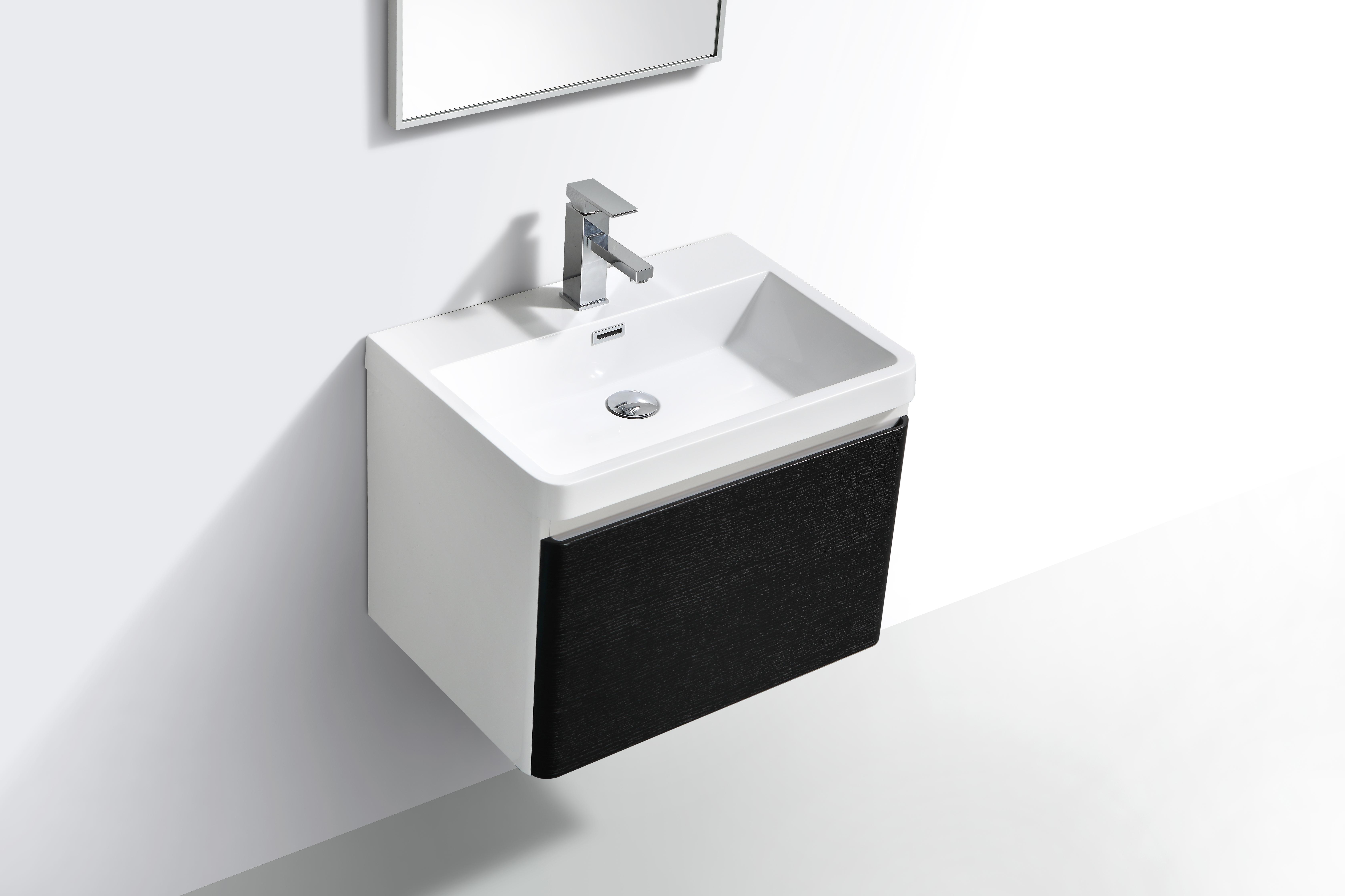 MILAN 600 single drawer – Rustic Black 2